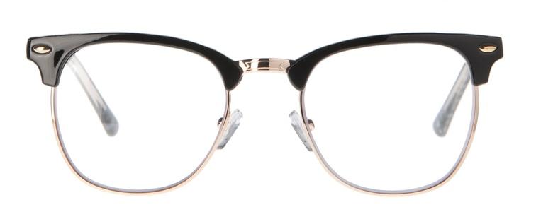 Icon Eyewear MCU721 Clubmaster Silverline Leesbril +1.50 - Glanzend zwart