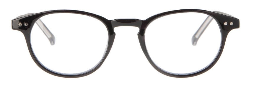 Icon Eyewear MCB703 Murray Silverline Leesbril +3.00 - Glanzend zwart, transparante binnenzijde