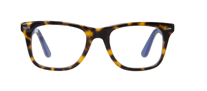 Icon Eyewear RCE806 WayFarer Goldline Leesbril +1.00 - Tortoise, Blauw