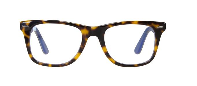Icon Eyewear RCE806 WayFarer Goldline Leesbril +2.50 - Tortoise, Blauw