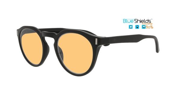 BlueShields by Icon Eyewear NEB352 Nemo Beeldschermbril Xtreme blauw licht filter 80% leessterkte +1.00 - Zwart