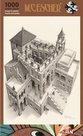 Puzzel Escher - Klimmen en Dalen 1000 stukjes