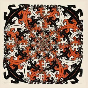 Puzzel Escher - Salamanders 210 stukjes