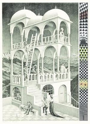Puzzel Escher - Belvedere 1000 stukjes