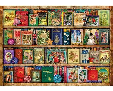 Puzzel Hout Stewart - Festive Bookshelf 40 stukjes