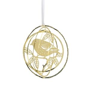 Hanger 3D Sparrow Goud 8 cm