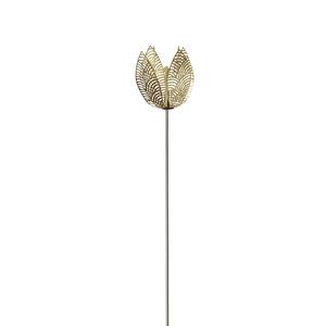 Decoratie stick Flower Goud 25 cm