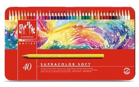 Caran d'Ache supracolor aquarelpotloden 40 stuks assortiment in blik
