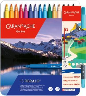 Caran d'Ache Classic Fibralo Viltstift 15 Stuks Assorti