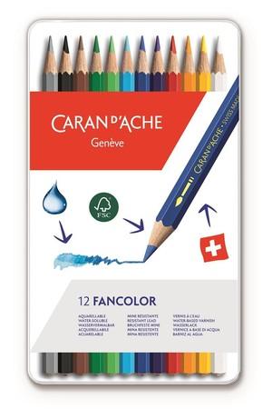 Caran d'Ache Fancolor Kleurpotloden 12 stuks Assorti