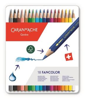 Caran D'Ache Fancolor Kleurpotloden 18 Stuks Assorti