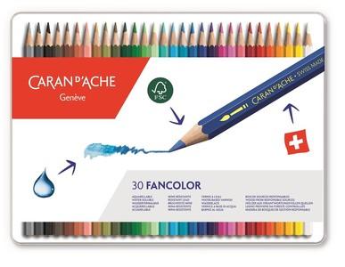Caran d'Ache Fancolor Kleurpotloden 30 Stuks Assorti