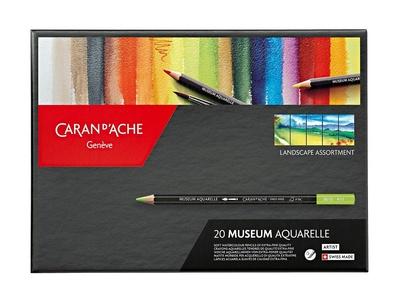 Caran d'Ache Artist Museum Aquarel Kleurpotloden 20 Stuks Assorti