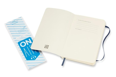 Moleskine Notebook Pocket Ruled Sapphire Blue Soft
