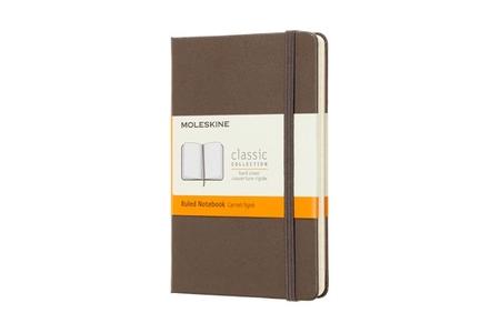 Moleskine Notebook Pocket Ruled Hard Cover Earth Brown