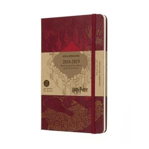 Moleskine Harry Potter Weekly Diary Notebook 18 Months 2018/2019 Large A5 Hardcover Red