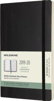 Moleskine 18 Month Weekly Notebook Planner 2020 - Black