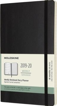 Moleskine Weekly Large Softcover Black Zwart 18 maanden 2019-2020