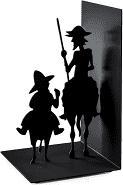 Boekensteun Don Quichot zwart metaal 1 stuk Balvi