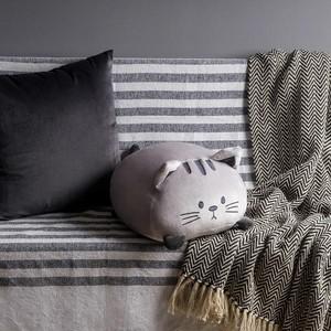 Kussen Kitty kat Grijs Grey Balvi