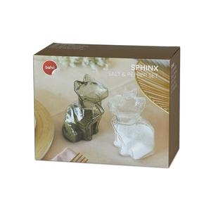 Peper- en Zoutstel set Sphinx Cats Clear/Grey