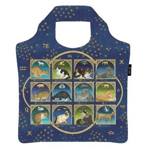 Ecozz Ecoshopper opvouwbaar tasje Astrology Cats - Francien van Westering