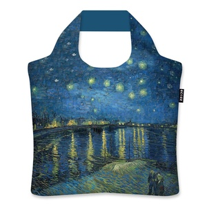 Ecozz Ecoshopper opvouwbaar tasje Starry Night over the Rhone - Vincent van Gogh