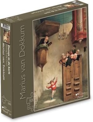Puzzel  Marius van Dokkum - Dansje in de kerk 500 stukjes