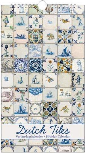 Bekking & Blitz Verjaardagskalender Dutch Tiles