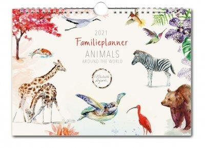 Animals around the World - Michelle Dujardin Familie Planner 2021