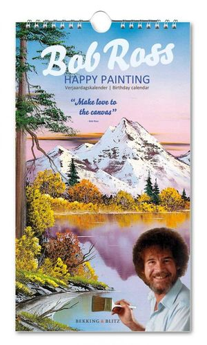 Verjaardagskalender Bob Ross - Happy Painting