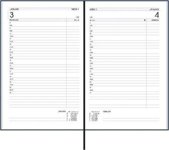 Ryam Efficiency Kort Zwart met tabbladen - Dag per Pagina - 6-talig - Agenda 2021
