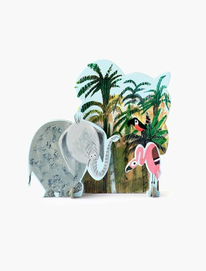 Pop Out Story - Jungle Elephant Studio Roof