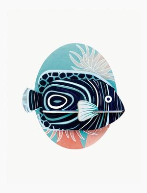 Sea Animals - Emperor Anglefish - Keizersvis Studio Roof