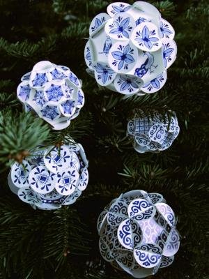 Delftsblauwe Kerstballen