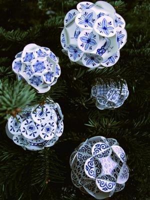 Piet Design Delfts Blauwe Kerstballen