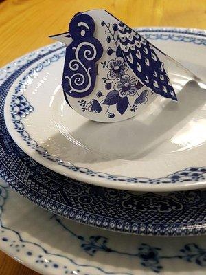 Piet Design Delfts blauw Roodborstje