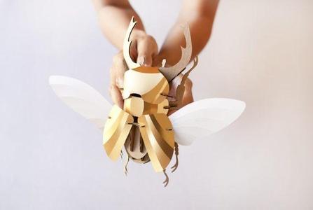 Vliegend Hert Gold Leaf Metallic Assembli