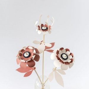 Vlijtig Steeltje Nature and Paper DIY Flowers - Caululis Dilligenter