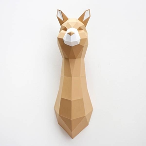 Paper Alpaca Folding Kit  - Caramel