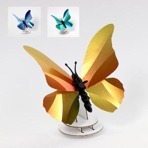 Morpho vlinder zonnig geel Assembli