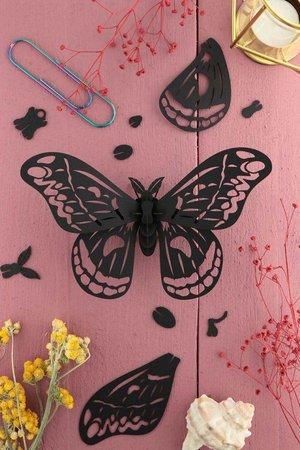 Grote Zijdevlinder Zwart Assembli