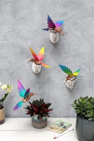Kolibrie Geel - Blauw Assembli