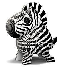 Eugy 3D Cardboard Model Kit Zebra