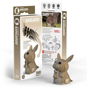Eugy 3D Cardboard Model Kit Kangoeroe