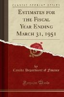 Finance, C: Estimates for the Fiscal Year Ending March 31, 1