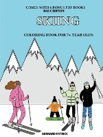 Coloring Book For 7+ Year Olds (skiing)