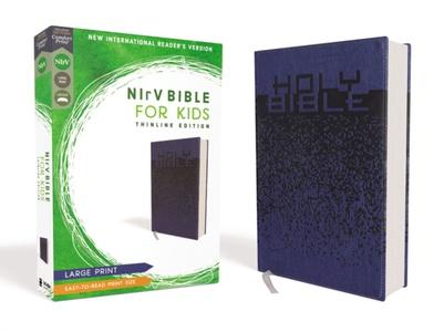 Nirv, Bible For Kids, Large Print, Leathersoft, Blue, Comfort Print