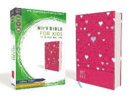 Nirv, Bible For Kids, Large Print, Leathersoft, Pink, Comfort Print