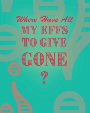 Where Have All My Effs To Give Gone? - Blank Notebook With Rainbow Lines